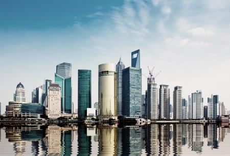 daytime: modern city,shanghai skyline in daytime