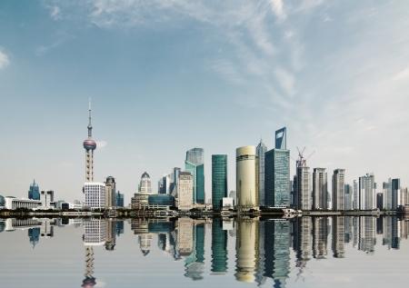 modern city,shanghai skyline in daytime Editorial