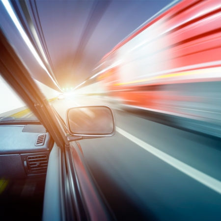 car on the tunnel wiht motion blur background Stock Photo - 14833033