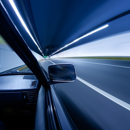 car on the tunnel wiht motion blur background Stock Photo - 14833050