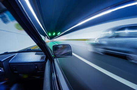 car on the tunnel wiht motion blur background Stock Photo - 14833072
