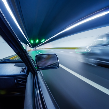 car on the tunnel wiht motion blur background Stock Photo - 14833056