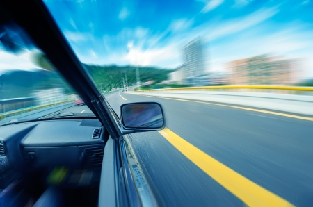 car on the tunnel wiht motion blur background Stock Photo - 14833048