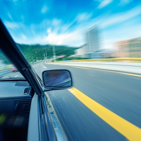 car on the tunnel wiht motion blur background Stock Photo - 14833039