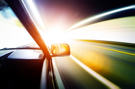 car on the tunnel wiht motion blur background Stock Photo - 14833035
