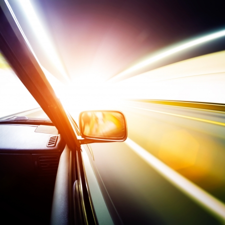 car on the tunnel wiht motion blur background Stock Photo - 14833032