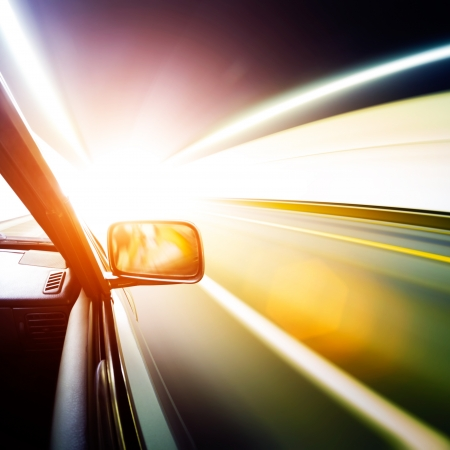 car on the tunnel wiht motion blur background Stock Photo - 14833031