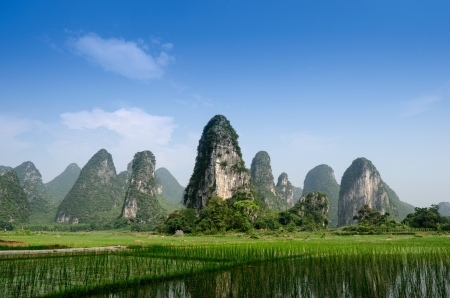 guilin: Pastoral scenery in Guilin,China