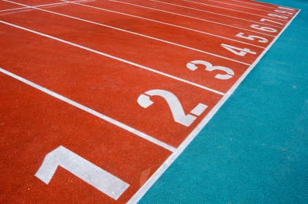 Starting grid of race track at the stadium