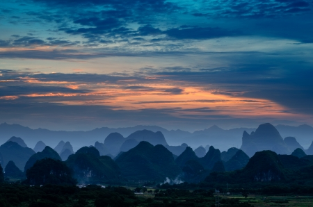 karst: Guilin Beauty in guangxi,china
