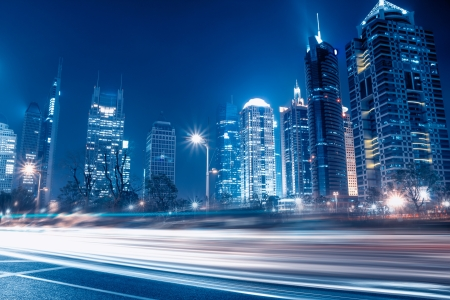 light trail: Fast moving cars at night