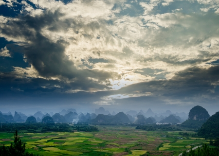 Rural scenery in Guilin,guangxi,China photo