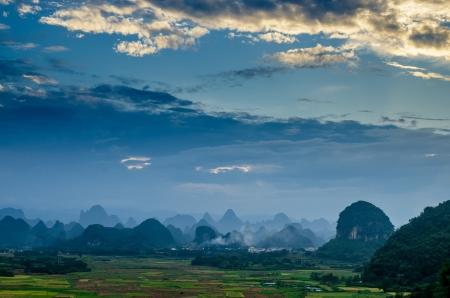 Rural scenery in Guilin,guangxi,China photo