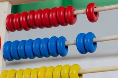 Education concept - Abacus with many colorful beads Stock Photo - 15926003