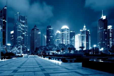 shanghai lujiazui finance and trade zone skyline photo