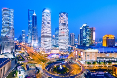 Shanghai Skyline at night,shanghai,china Stock Photo - 16249017