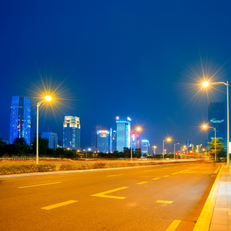 Urban road in the evening Stock Photo - 16719255