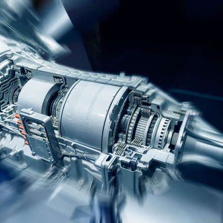 gearshift: The cars engine closeup