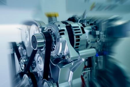 pulleys: El primer coche de motor Foto de archivo