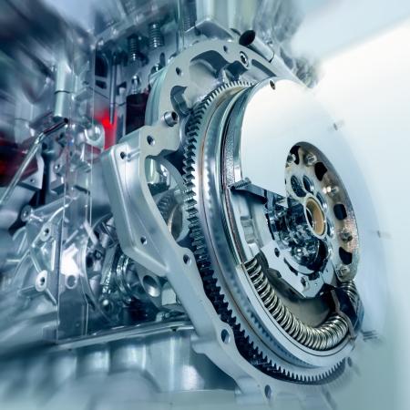 Ein Detail Und Ein Teil Des Automotors; Beachten Sie Die Geringe ...