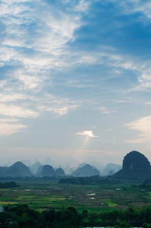 Beautiful natural scenery in Guilin photo