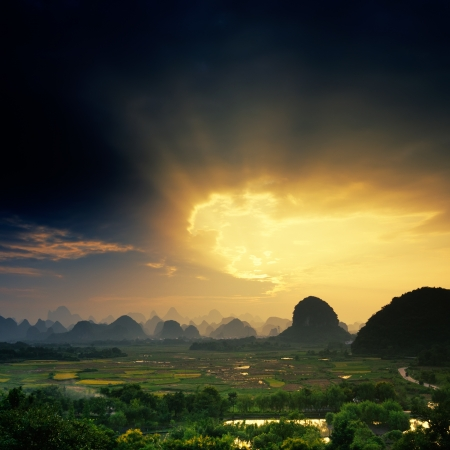 Beautiful natural scenery in Guilin photo