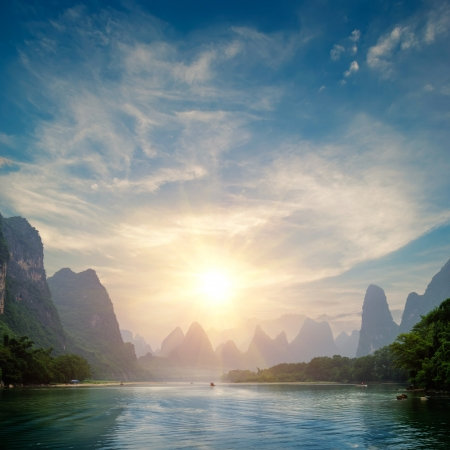Uno splendido scenario naturale a Guilin photo