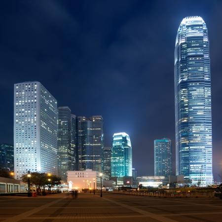 panorama city panorama: Hong Kong horizonte de la ciudad en casi Foto de archivo