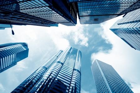moderno centro de negocios en Hong Kong Foto de archivo