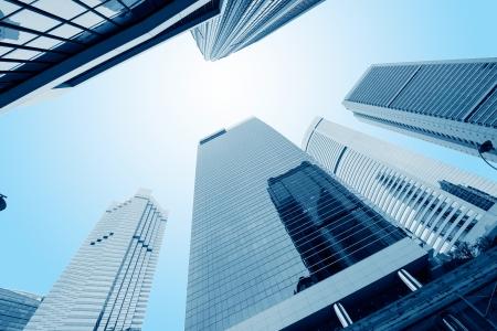 hotel building: modern business center in hongkong Stock Photo