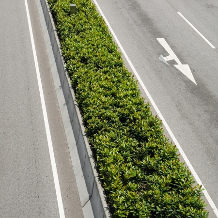 guardrails: Green belts in the road
