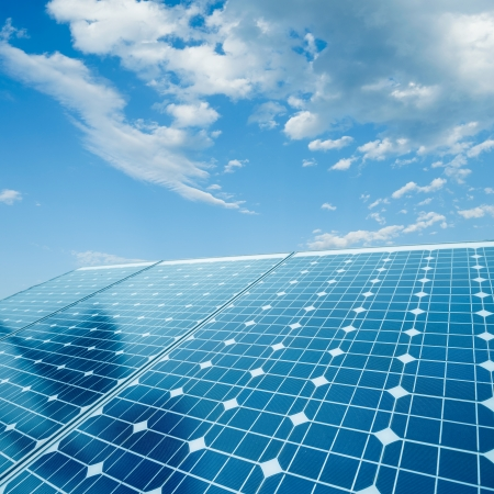 photovoltaic: photovoltaic cells and sunlight background