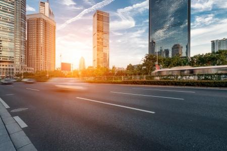 The century avenue of street scene in shanghai Lujiazui,China Standard-Bild