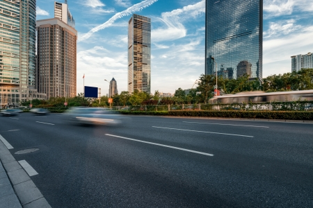 The century avenue of street scene in shanghai Lujiazui,China Stock Photo