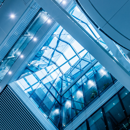 urban architecture: modern city urban futuristic architecture reflection in glass