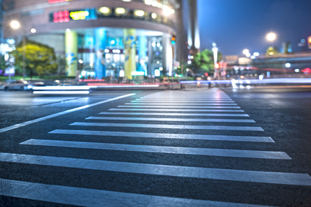 zebra crossing: A zebra crossing on the streets of the city