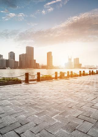 impressive: modern city in shanghai of china