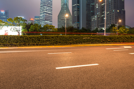 highrises: High-rises in Shanghais new Pudong banking and business district Stock Photo