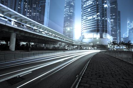 night city: traffic city night  at hongkong,china