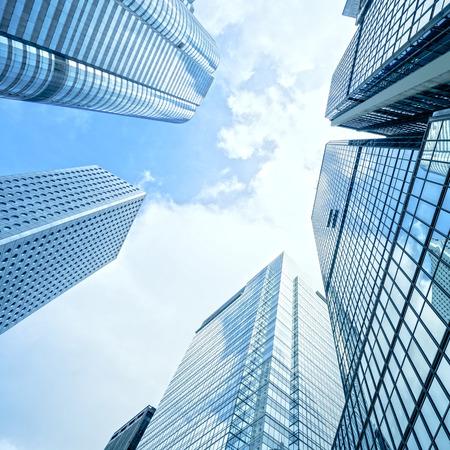 modern business center in hongkong Standard-Bild