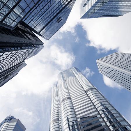 new building: modern business center in hongkong Editorial