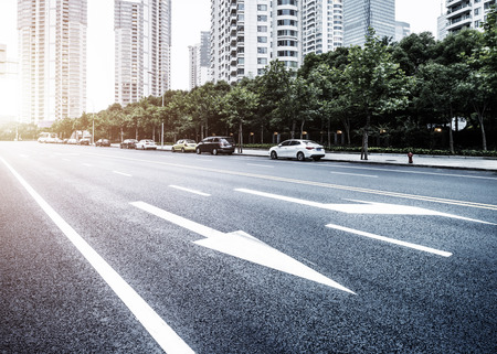 Das Straßenbild des Lujiazui finanziellen Zentrum in Shanghai Standard-Bild - 42835243