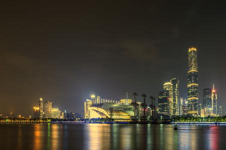 City night view of Guangzhou Stock fotó