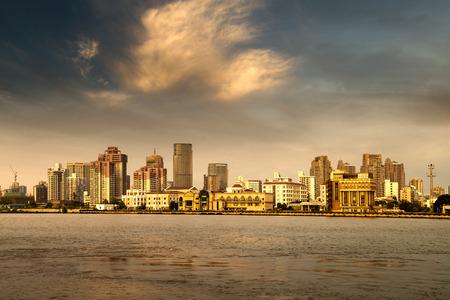 landscape city: City in the setting sun