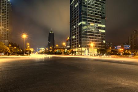 night scene of modern city Stok Fotoğraf - 42883009