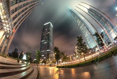 city scene: night scene of modern city