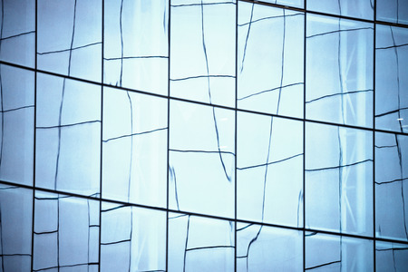 office building: Glass wall in modern office building