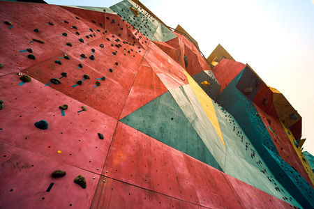 with no one: No one of rock climbing walls