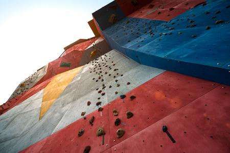 No one of rock climbing walls