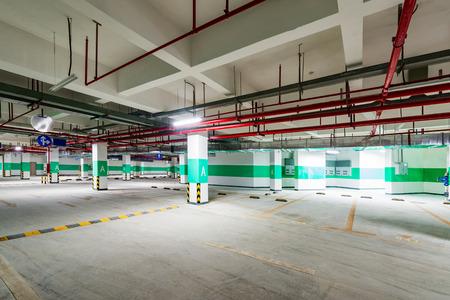 garage: The underground garage in the building
